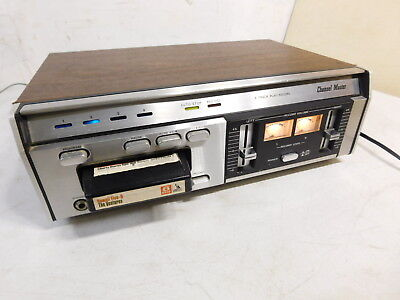 Vintage Channel Master HD6005 8 Track Player / Record Taiwan Wood Grain