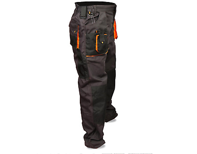Mens Work Cargo Trouser Knee Pad Heavy Duty Multi Pockets Pouches Holder Pant UK