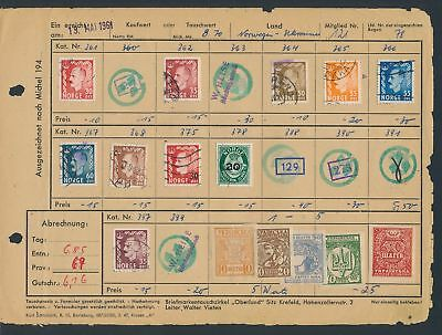 XB35057 Norway Ukraine nice lot of good old stamps used
