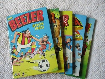The Beezer Book - Annual - 1980-1984 (five consecutive books)