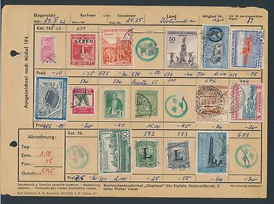 XB35127 Colombia nice lot of good old stamps used