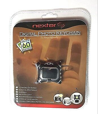 "Nextar N1-102 1.1"" Colour LCD Screen Black Digital Photo Keychain - 60 Photos"