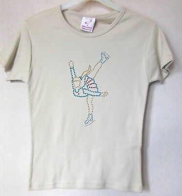 New Ice skating T-Shirt Ladies Size 8-10 with Glitzy design
