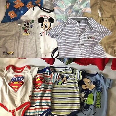 Disney 3 To 9 Months Bodysuits Jackets Sleepers Hilfiger Outfit 15 Pieces