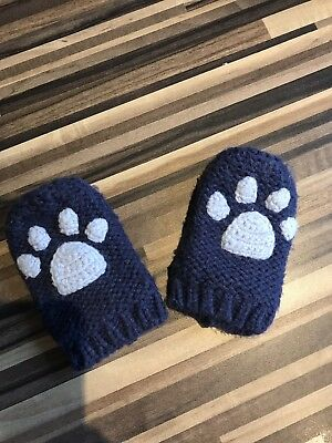 Joules Mittens 1-2 Years In Navy Blue