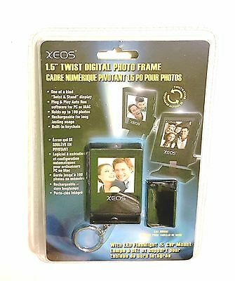 Xeos 1.5 Twist Digital Photo Frame - With LED Flashlight And Car Mount - New