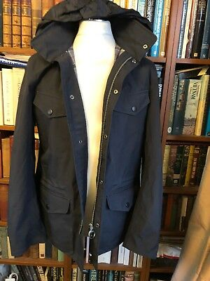 Vintage Barbour Sandland Jacket With Hood Size 44