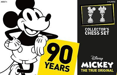 Mickey The True Original Chess Set 90th Anniversary   Collectable Piece Figur...