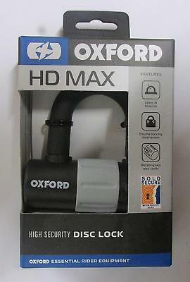Oxford Hd Max High Security Motorbike Disc Lock 14Mm Shackle Black Bc39664 T
