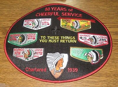 OA Marnoc Lodge 151 80th Anniversary Back  Jacket  Patch 100 Made