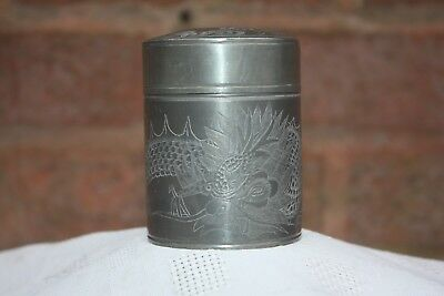 Late 19th Century Chinese Huikee Pewter Swatow Box