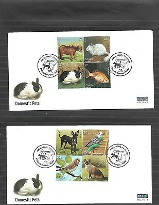 Malta ( Domestic Pets ) 2006 Complete Set of 16 Stamps on 4 FDC's