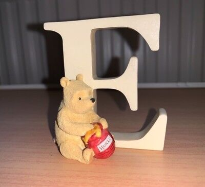 Disney Winnie the Pooh Alphabet Letter E. Very Good Condition.A6620 Pooh Sitting