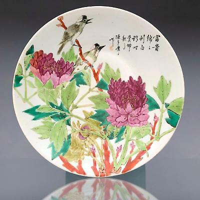 Ø34,5cm PERFECT antique QIANJIANG CAI CHARGER Chinese porcelain ARTIST SIGNED!