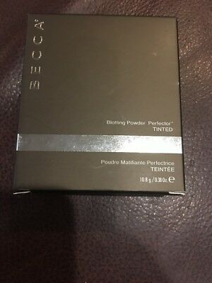 New Becca Blotting Powder Perfector TINTED Full Sized Oil Absorbing Set Makeup