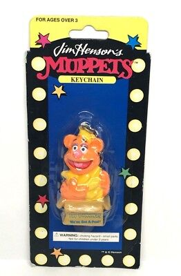 Jim Henson's Muppets - FOZZIE Top Bananas - Rare Vintage Keychain New in Package