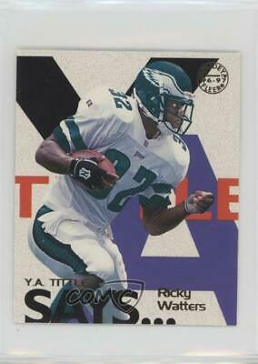 1997 Fleer Goudey YA Tittle Says #20 Ricky Watters Philadelphia Eagles Card