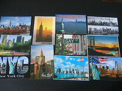 Postcards (20) New York City Tourist  Shiny Chrome All Different New