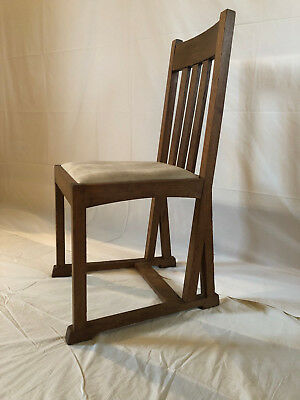 Oak Dining Chairs x 6 (Possibly Liberty's or Heals, Arts and Crafts, Bauhaus)