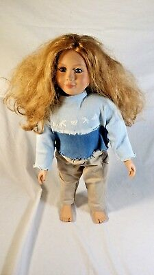 My Twinn doll, 1999 tag date, blonde hair, blue eyes with clothes  FREE SHIPPING