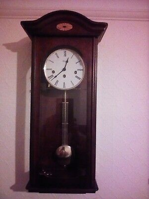 HERMLE WESTMINSTER CHIME WALL CLOCK.excellent condition.