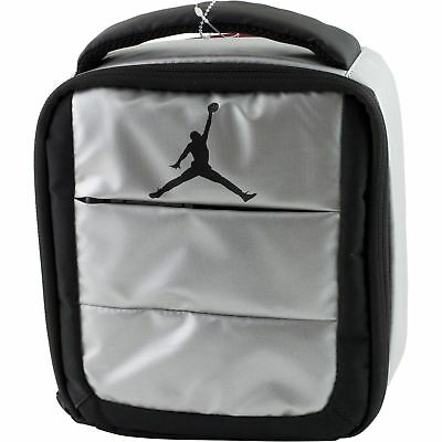 37e3850cdbb Nike Air Jordan Jumpman Soft School Insulated Lunch Tote Bag Box Metallic  Silver