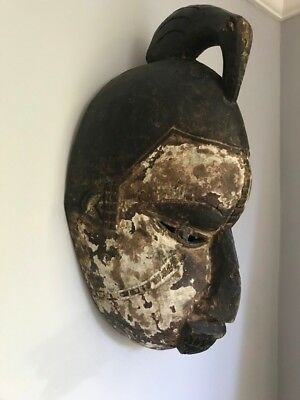 Old African Tribal Face Mask | Yoruba Nigerian? | Wooden | Carved | Ceremonial