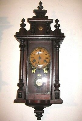 VERY OLD ANTIQUE  - JUNGHANS  -  SMALL WALL CLOCK at 1895