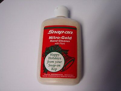 Snap-On ~ Hand Cleaner ~ Nitro Gold/with Fibril ~ 4 oz ~ FREE S/H IN USA