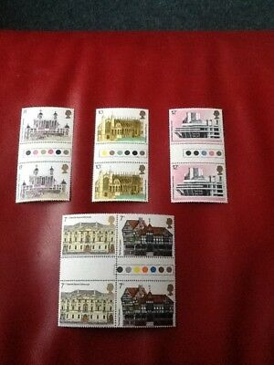 1975 Architectural Heritage Traffic Light Gutter Pairs Unused Mint