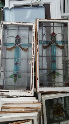 2x Large Stained Glass Windows