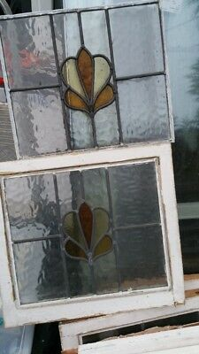 19x Set Of Stained Glass Windows