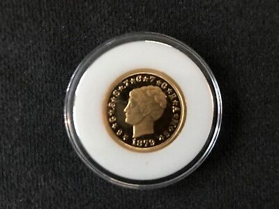 1879 Four Dollars Stella Gold Plated Solid Silver Proof Capsuled COPY
