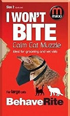 Mikki Training Calm Cat Muzzle, Size 1 ideal for groomers and vets quick fit sm
