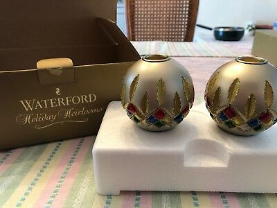 Waterford Holiday Heirlooms Candle Holders