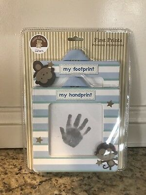 Carter's Child of Mine Newborn Baby Hand Foot First Prints Kit Two Frames