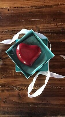 Valentines Heart Shaped Leather Box From Tiffany & Co. Designed By Elsa Peretti
