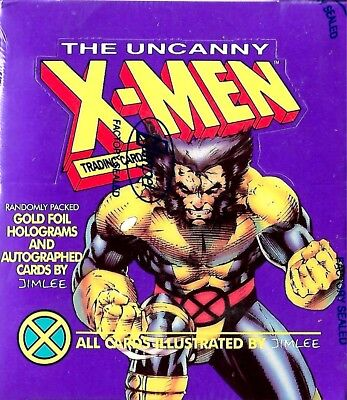 1992 Impel THE UNCANNY X-MEN Sealed card box  Jim Lee Autograph