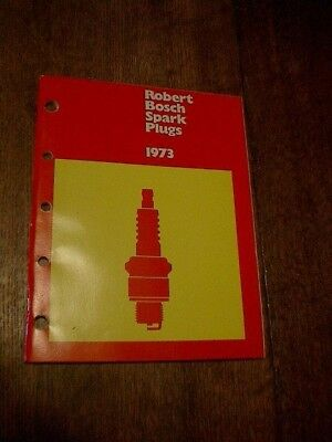 1973 Robert Bosch Spark Plugs Orig Catalog Truck Lawn Mower Saws Collector Cars