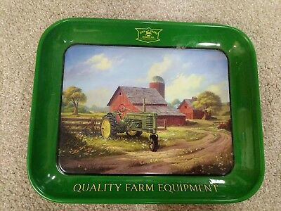 Vintage John Deere Spirit of America Food Platter Metal Tray 2004 10x13""