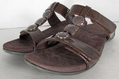 5d97d005508 ORTHAHEEL ALBANY T Strap Slide Sandals Chocolate Size US 7 Women ...
