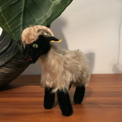 Steiff Tier Heideschaf Mountain Sheep Snucki Knopf, Fahne 1312,00 TOP Zustand@@