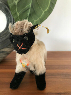 Steiff Tier Heideschaf Mountain Sheep Snucki Knopf, Fahne 1312,00 Schild @@@@@