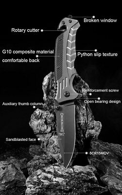 Browing CS GO SPRING TACTICAL Assisted Blade Pocket Knife Hunting Survival