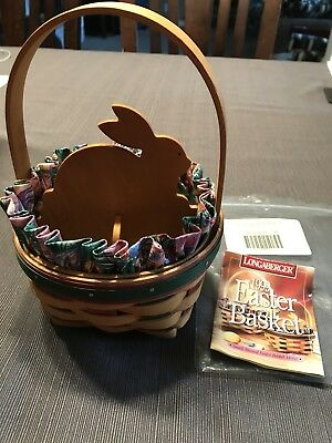 Longaberger 1999 Easter Basket Combo With Bunny Insert New!