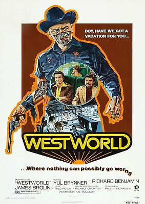 Westworld Poster Film A4 A3 A2 A1 Large Format Cinema Movie