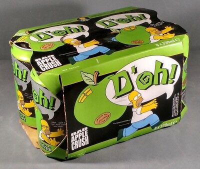 The Simpsons D'oh! Bad Apple Crush 6 pack soft drink UK Hall Woodhouse Homer