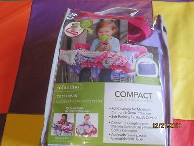 Infantino Compact 2-in-1 Shopping Cart High Chair Cover With Sippy Strap and Toy