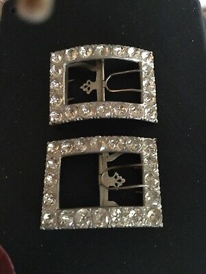 18th c. French Paste MENS' Large Shoe Buckles