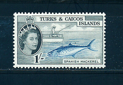 TURKS & CAICOS ISLANDS 1957 DEFINITIVES SG246 1s. (FISH)  MNH